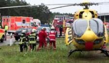 Hubschrauber-Einsatzstelle