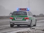 Polizei autobahn schnee
