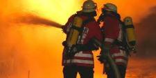 Feuerwehrleute-Einsatz
