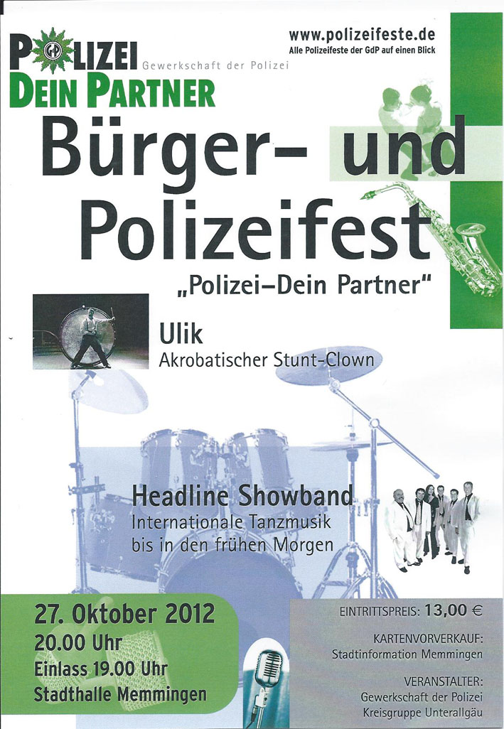Plakat Polizeiball 2012
