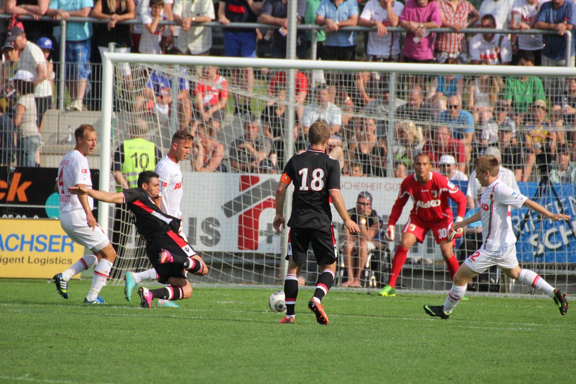 20-07-2013 memmingen fussball fc-augsburg as-monaco internationales-testspiel poeppel new-facts-eu20130720 titel