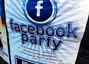 facebook-party plakat presse