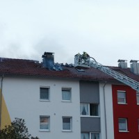 BaWü Laupheim Dachstuhlbrand