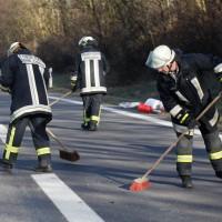 LKW Unfall A8 bei Elchingen