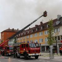 Neugablonz - Brand Am Markt - Kino und Discothek brennen