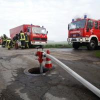 BaWü Brand auf Bauernhof, etwa 160 Tiere gerettet