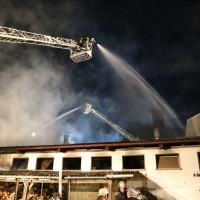Reinstetten - Brand einer Stallung auf landwirtschaftlichen Anwesen