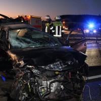 A96-Erkheim - Schwerer Verkehrsunfall mit zahlreichen Verletzten, zwei schwer