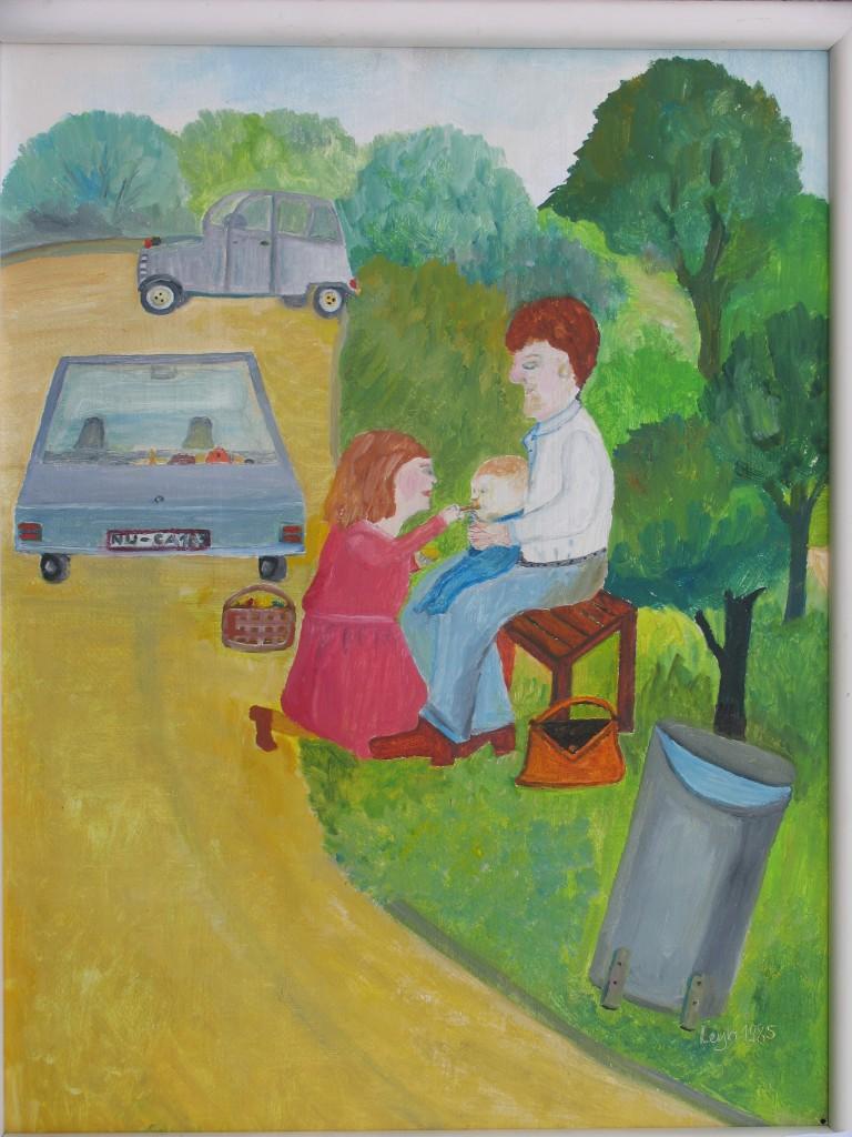 Bilder der 2007 verstorbenen Malerin Lisl Leyh stehen im Mittelpunkt der Kinderführung im Kunstmuseum Oberfahlheim zum Museumstag.