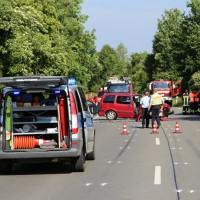 B31-Kressbronn - Frontalcrash beim Überholvrogang - vier Verletzte