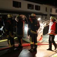 Oberstdorf - Großbrand - drei Reihenhäuser ausgebrannt - 16 Verletzte