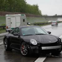 A7 Porsche GT3 gg Leitplanke