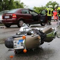Mindelheim - Kollision zwischen Pkw und Kradfahrer