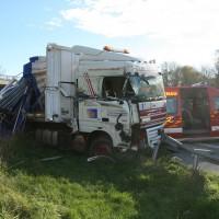 LKW Unfall A7 Langenau