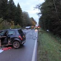 Ottobeuren - Drei Verletzte bei Verkehrsunfall vor der Moosbacher-Kreuzung