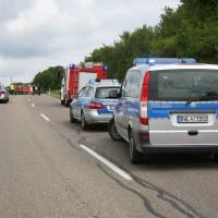 LKW Unfall Ulm, B 10