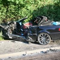 tödl Unfall Ulm, B311 PKW/LKW