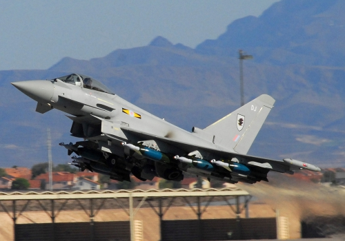 Britisches Kampfflugzeug Eurofighter Typhoon, über dts Nachrichtenagentur