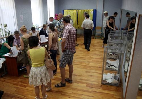 Wahllokal in Kiew am 25.05.2014, über dts Nachrichtenagentur