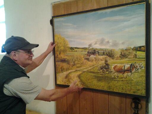 """Alfred Weindl stellt in der Kreisheimatstube Stoffenried Bilder zum Thema """"Das Bauernjahr in Bildern"""" aus."""