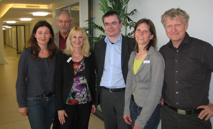 Sabine Weins (KoKi), Martin Hannig (Jugendamtsleiter), Barbara Hellenthal (Fachbereichsleiterin), Dr. Heinz Kindler (Deutsches Jugendinstitut), Birgit Martens (KoKi) und Jürgen Volz (KoKi)