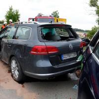 schwerer VU Burgau-Unterknöringen 4 Verletzte