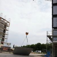 Ulm Böfingen Kran-Unfall