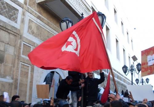 Demonstranten in Tunesien, über dts Nachrichtenagentur