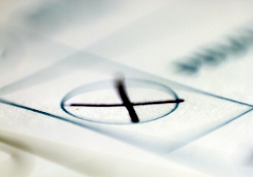 Kreuz auf Stimmzettel, über dts Nachrichtenagentur