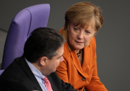 Angela Merkel und Sigmar Gabriel, über dts Nachrichtenagentur