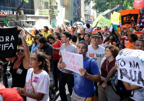 Proteste in Rio de Janeiro am 12.06.2014, Tomaz Silva/Agência Brasil, Lizenztext: dts-news.de/cc-by