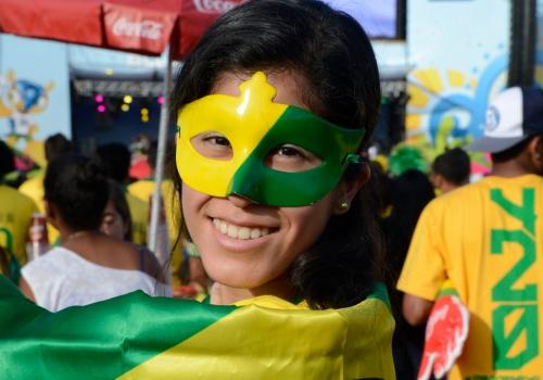 Brasilianischer Fan bei Fußball-WM, Valter Campanato/Agência Brasil, Lizenztext: dts-news.de/cc-by