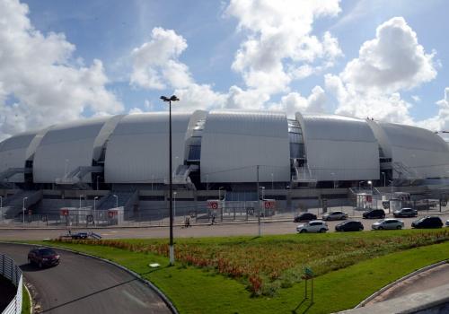 WM-Stadion Arena das Dunas in Natal, Valter Campanato/Agência Brasil, Lizenztext: dts-news.de/cc-by