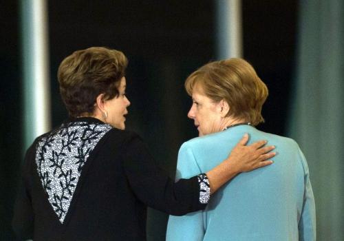 Dilma Rousseff und Angela Merkel, Marcelo Camargo/Agência Brasil, Lizenztext: dts-news.de/cc-by