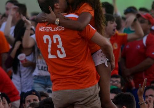 Fans aus den Niederlanden bei der Fußball-WM 2014, Fernando Frazão/Agência Brasil, Lizenztext: dts-news.de/cc-by