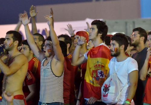 Fans aus Spanien bei der Fußball-WM 2014, Fernando Frazão/Agência Brasil, Lizenztext: dts-news.de/cc-by