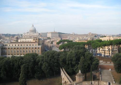 Blick über Vatikanstadt mit Petersdom, über dts Nachrichtenagentur