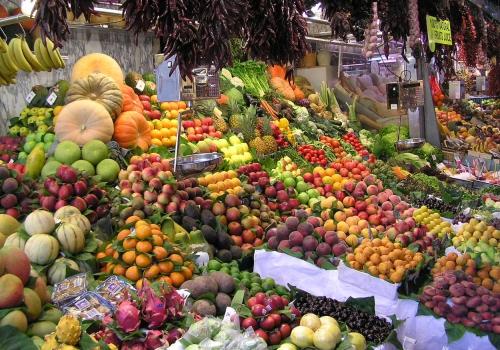 Früchte auf einem Markt, über dts Nachrichtenagentur