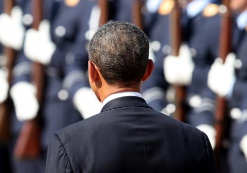 Barack Obama vor Militär, über dts Nachrichtenagentur