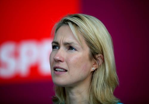 Manuela Schwesig spricht vor Journalisten, über dts Nachrichtenagentur