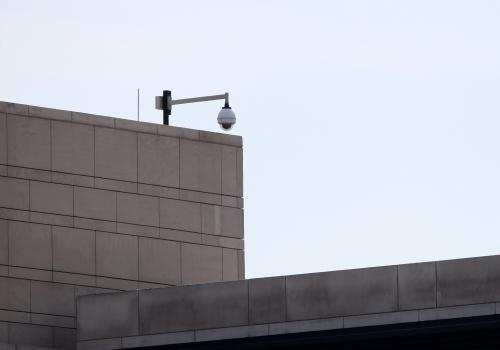 Dach der US-Botschaft in Berlin, über dts Nachrichtenagentur