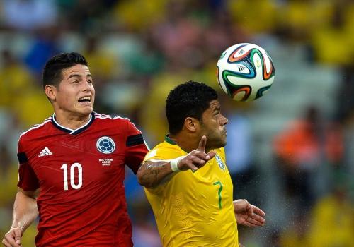 WM-Viertelfinale Brasilien - Kolumbien am 04.07.2014, Marcello Casal Jr/Agência Brasil, Lizenztext: dts-news.de/cc-by