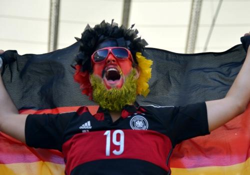 Fan im Stadion beim WM-Finale am 13.07.2014, Marcello Casal Jr/Agência Brasil, Lizenztext: dts-news.de/cc-by