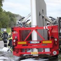 LKW ReifenbrandA7 Nersingen FR Süd