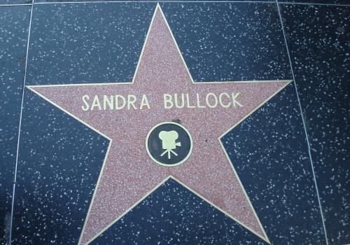 Sandra Bullocks Stern auf dem Walk of Fame, über dts Nachrichtenagentur