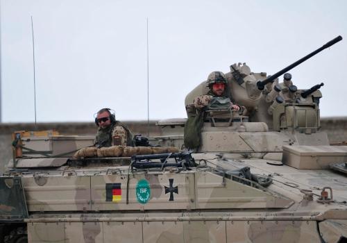 Bundeswehrsoldaten in Schützenpanzer