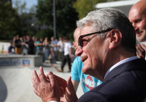 Joachim Gauck in Halle-Neustadt, über dts Nachrichtenagentur