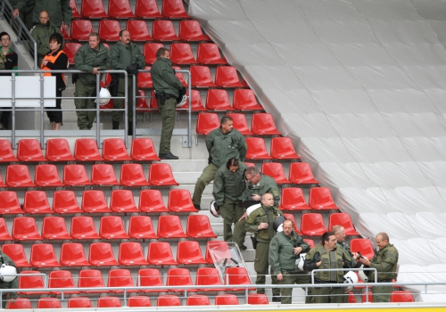 Polizei im Fußball-Stadion, über dts Nachrichtenagentur