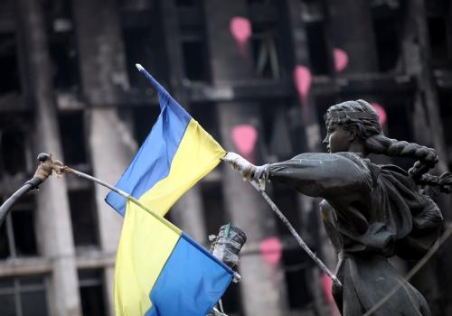 Ukrainische Flagge, über dts Nachrichtenagentur