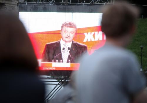 Petro Poroschenko im ukrainischen Fernsehen, über dts Nachrichtenagentur